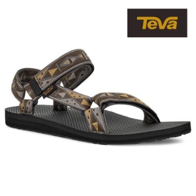【TEVA】原廠貨 男 Original Universal 經典緹花織帶涼鞋/雨鞋/水鞋(圖騰橄欖色-TV1004006TGOL)