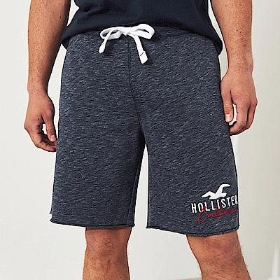 海鷗 Hollister HCO 經典電繡大海鷗休閒運動短棉褲-深藍色