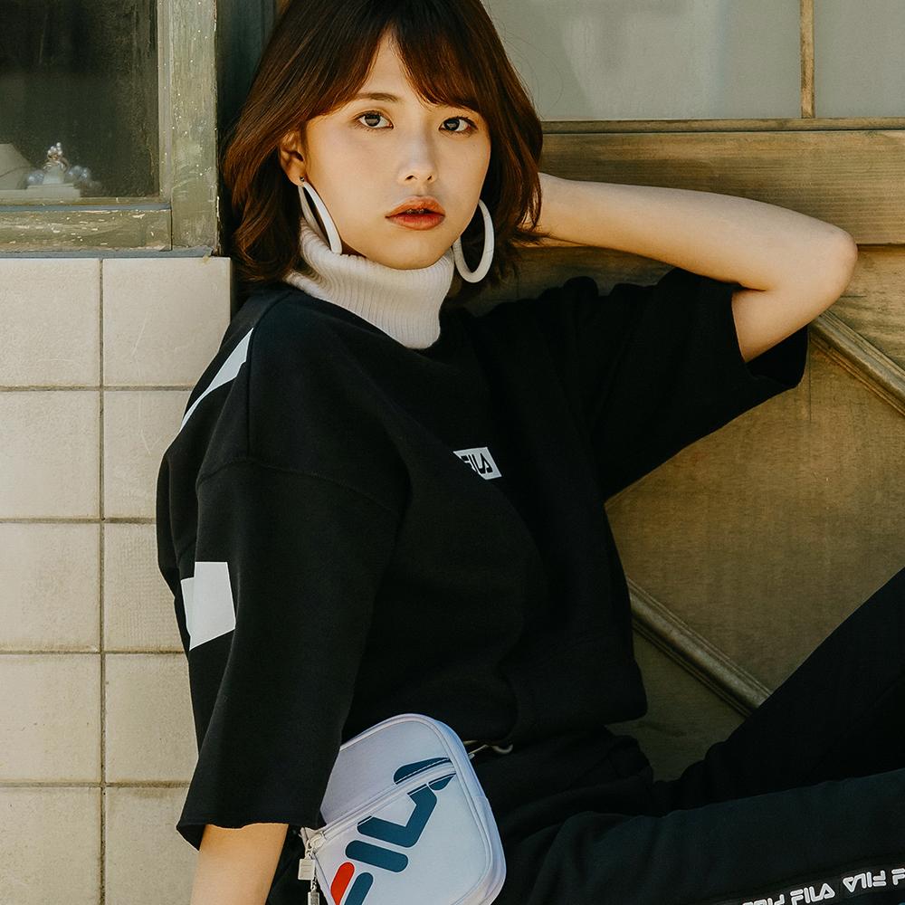 FILA #漢城企劃 女款短袖圓領T恤-黑 5TET-1420-BK