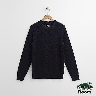 Roots 男裝- 休閒毛衣-藍