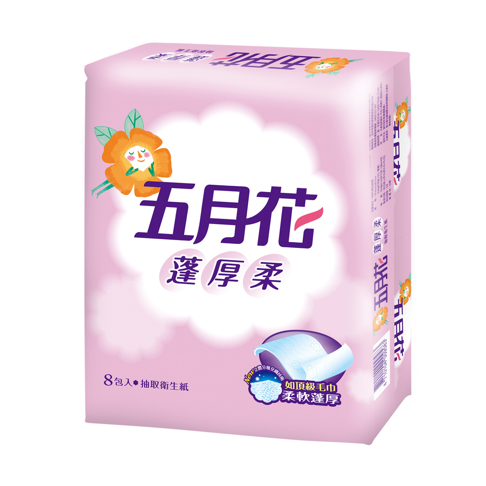 [限時搶購]五月花蓬厚柔頂級抽取衛生紙100抽 x48包/箱