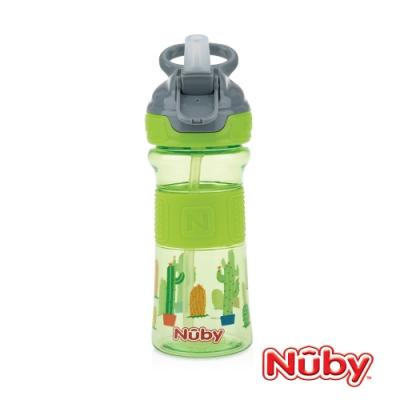 Nuby Tritan運動水杯-綠仙人掌(灰提把)