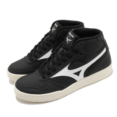 Mizuno 休閒鞋 City Wind Mid 中筒 男鞋 美津濃 皮革鞋面 基本款 穿搭推薦 黑 白 D1GA205809