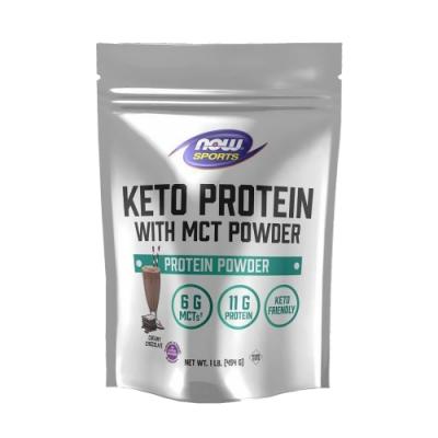 【NOW】MCT機能蛋白粉巧克力口味(454g) Keto Protein w MCT Powder Chocolate