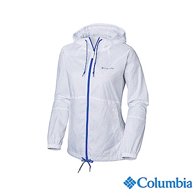 Columbia 哥倫比亞 女款-防潑水風衣-白色 UKR30130WT