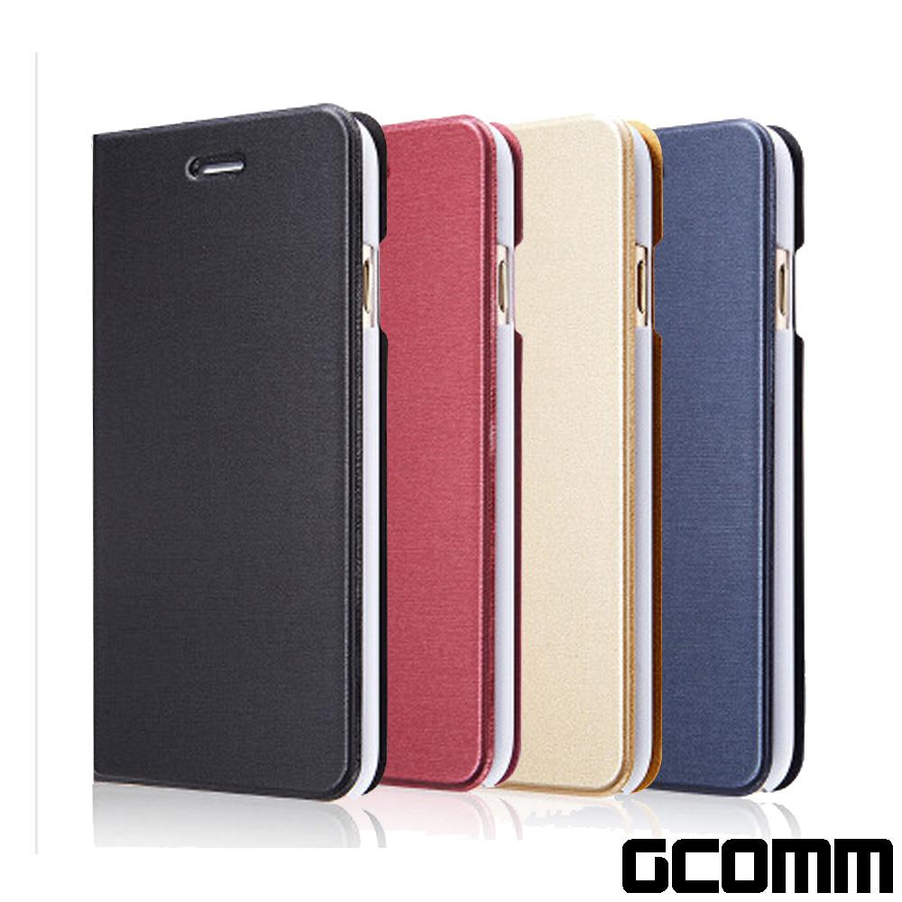 GCOMM iPhone 8/7 金屬質感拉絲紋超纖皮套