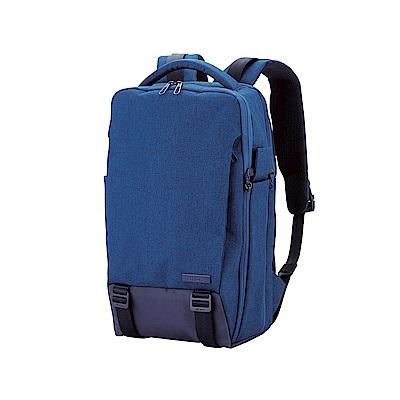 ELECOM  帆布多功能3WAY後背包OF02-藍