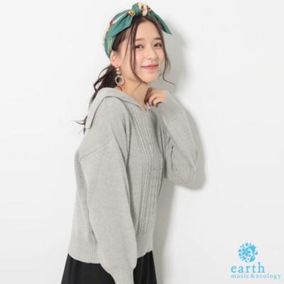 earth music 水手領口針織上衣
