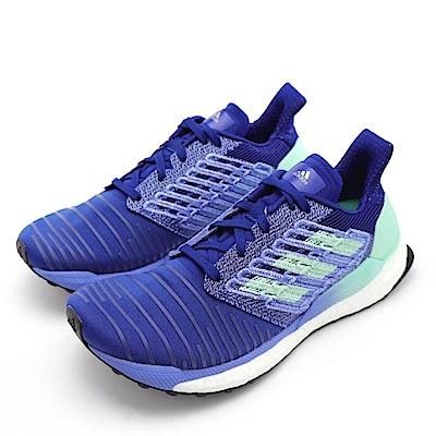 ADIDAS-SOLAR BOOST W女慢跑鞋-藍