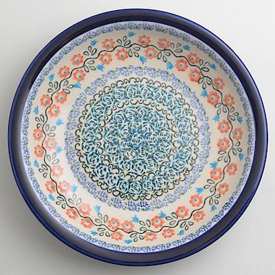 【波蘭陶 Zaklady】 紅花綠蔓系列 圓形深餐盤 22cm 波蘭手工製