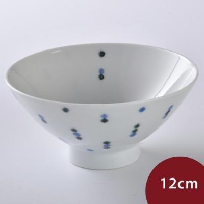 日本 Hakusan  PIZZICATO 餐碗 藍點水滴 12cm