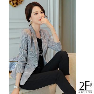 2F韓衣-韓系氣質西裝外套-灰色(M-2XL)