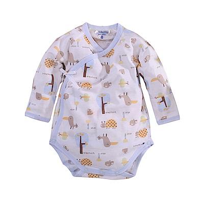 純棉薄款長袖護手連身衣 a70218 魔法Baby