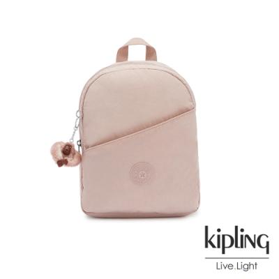 Kipling 氣質玫瑰粉時尚好收納後背包-CORY