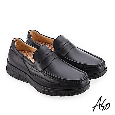 A.S.O 超能耐二代 樂福款休閒鞋 黑