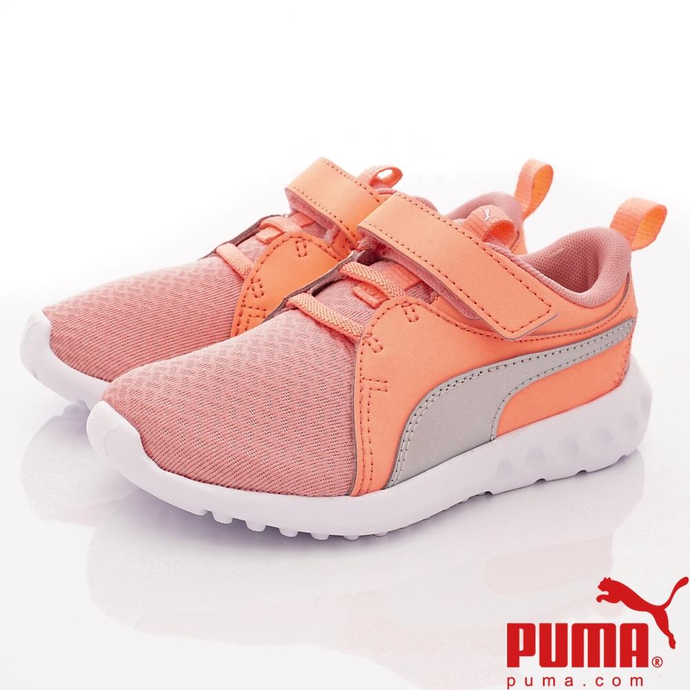 PUMA童鞋 蜂巢透氣慢跑款 ON92321-02粉橘(中小童段)