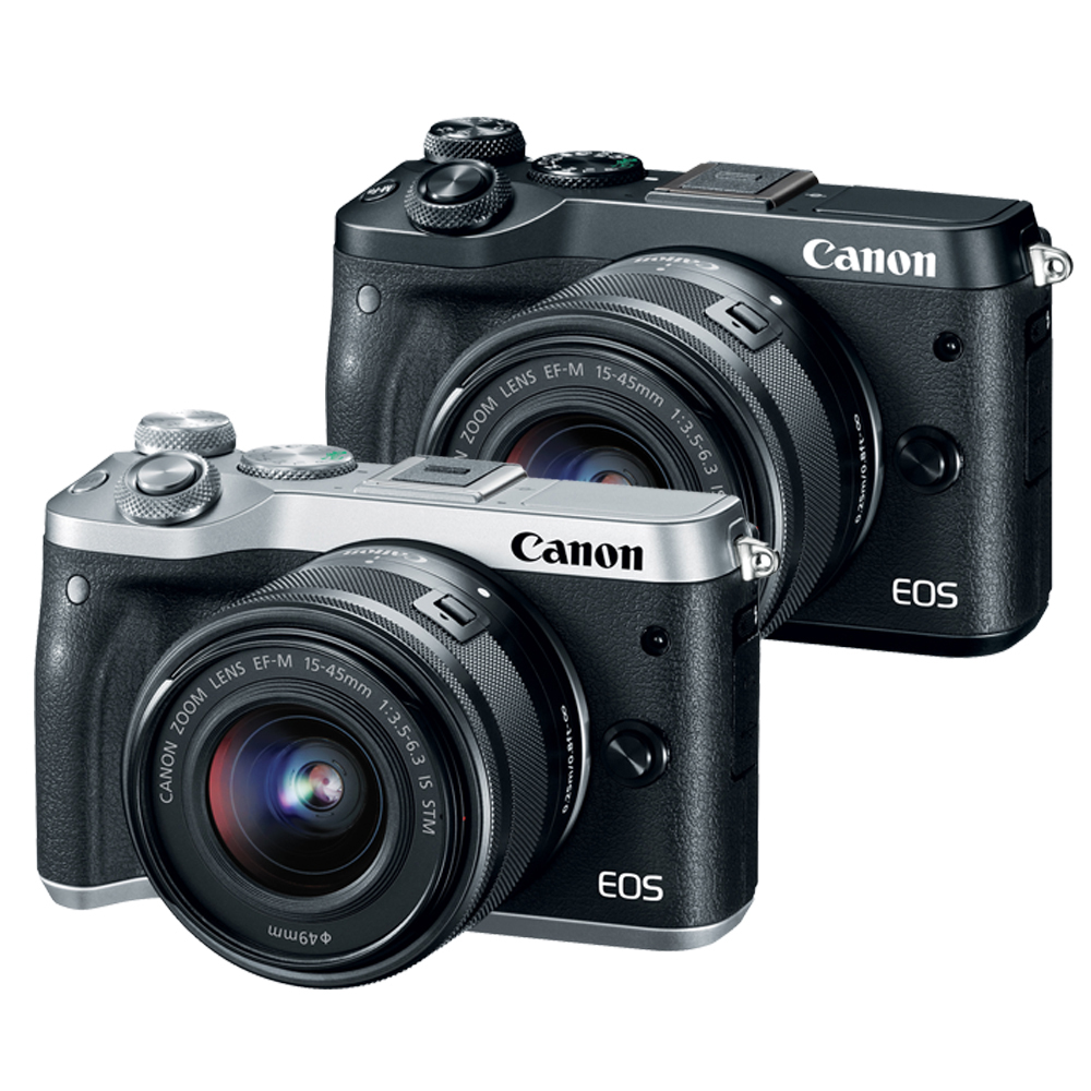 CANON EOS M6+15-45mm IS STM 單鏡組*(中文平輸) product image 1