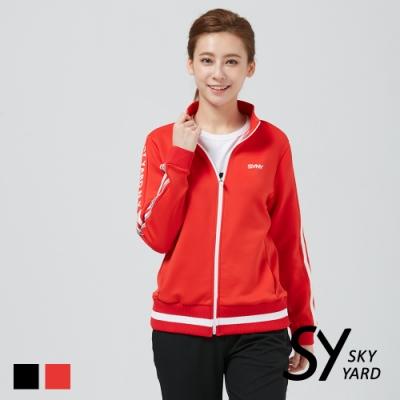 【SKY YARD 天空花園】立領拉鍊口袋長袖外套-紅色