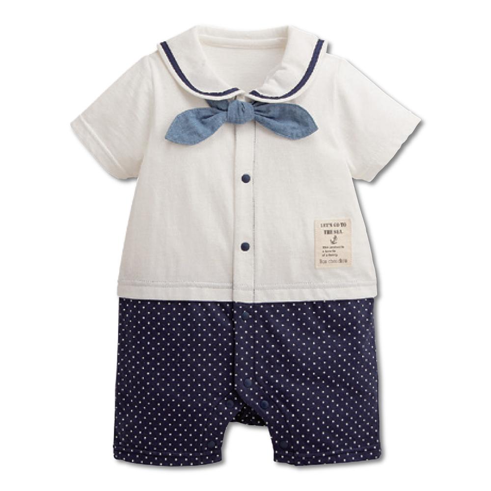 日本雜誌款-短袖連身水手服-白 product image 1