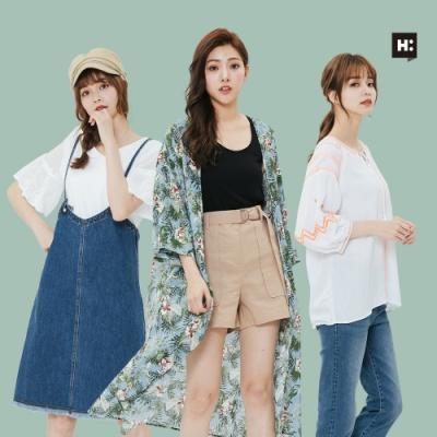 [時時樂]H:CONNECT 韓國品牌 女裝-精選韓系夏日造型上衣-三款