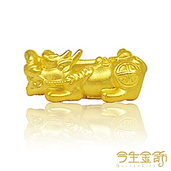 今生金飾 五帝錢貔貅串珠  純黃金串珠手環