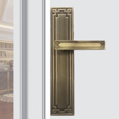 SL-F8848-CU 中式古典 青古銅 連體鎖 面板鎖 葫蘆鎖心 水平鎖 四支鑰匙