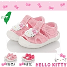 Hello Kitty童鞋 護趾柔軟透氣輕量減壓吸震學步涼鞋-粉.桃
