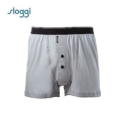 sloggi men Organic Cotton系列寬鬆平口褲 青灰