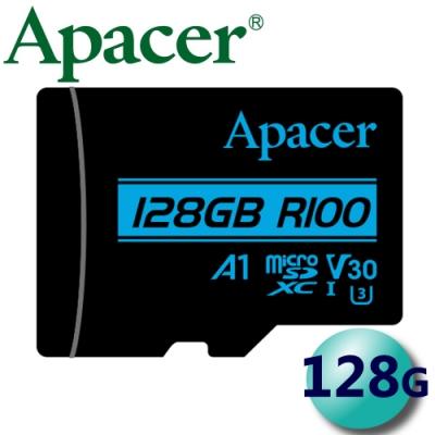 Apacer 宇瞻 128G 100MB/s microSDXC A1 U3 V30記憶卡