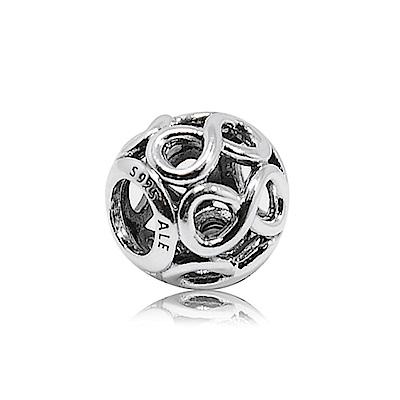 Pandora 潘朵拉 圓形鏤空無限魅力 純銀墜飾 串珠
