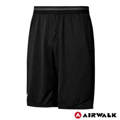 【AIRWALK】男款吸排籃球褲-黑色