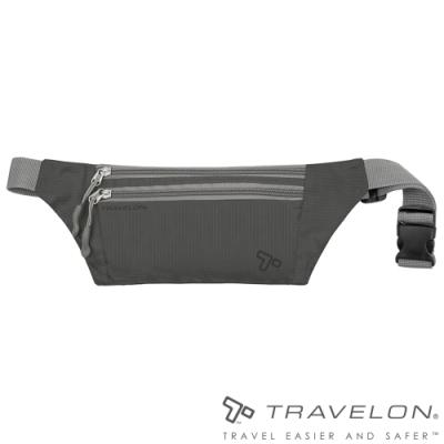 【Travelon】PACKING輕巧多夾層貼身輕量腰包TL-42977深灰/隨身包/收納包/零錢包/休閒運動旅遊適用