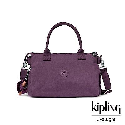 Kipling深紫素面公事手提包-IRISA
