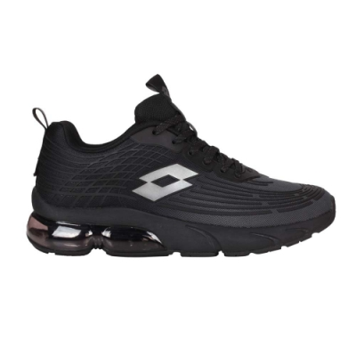 LOTTO 男休閒運動鞋-反光 慢跑 路跑 氣墊 LT1AMR3100 黑銀