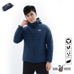 【遊遍天下】男款防潑水防風保暖可拆帽90%羽絨外套GJ22011深藍