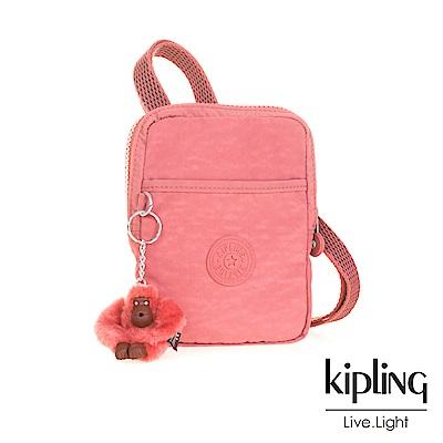 Kipling薔薇粉時髦側背包(中)