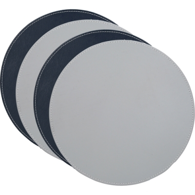《CreativeTops》圓形雙面餐墊4入(藍灰)