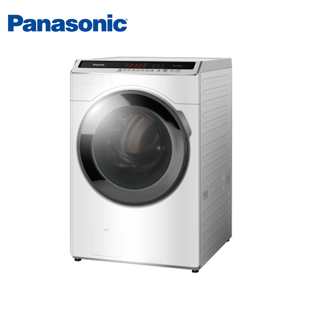 Panasonic國際牌 14公斤 洗脫變頻滾筒洗衣機 NA-V140HW-W 冰鑽白