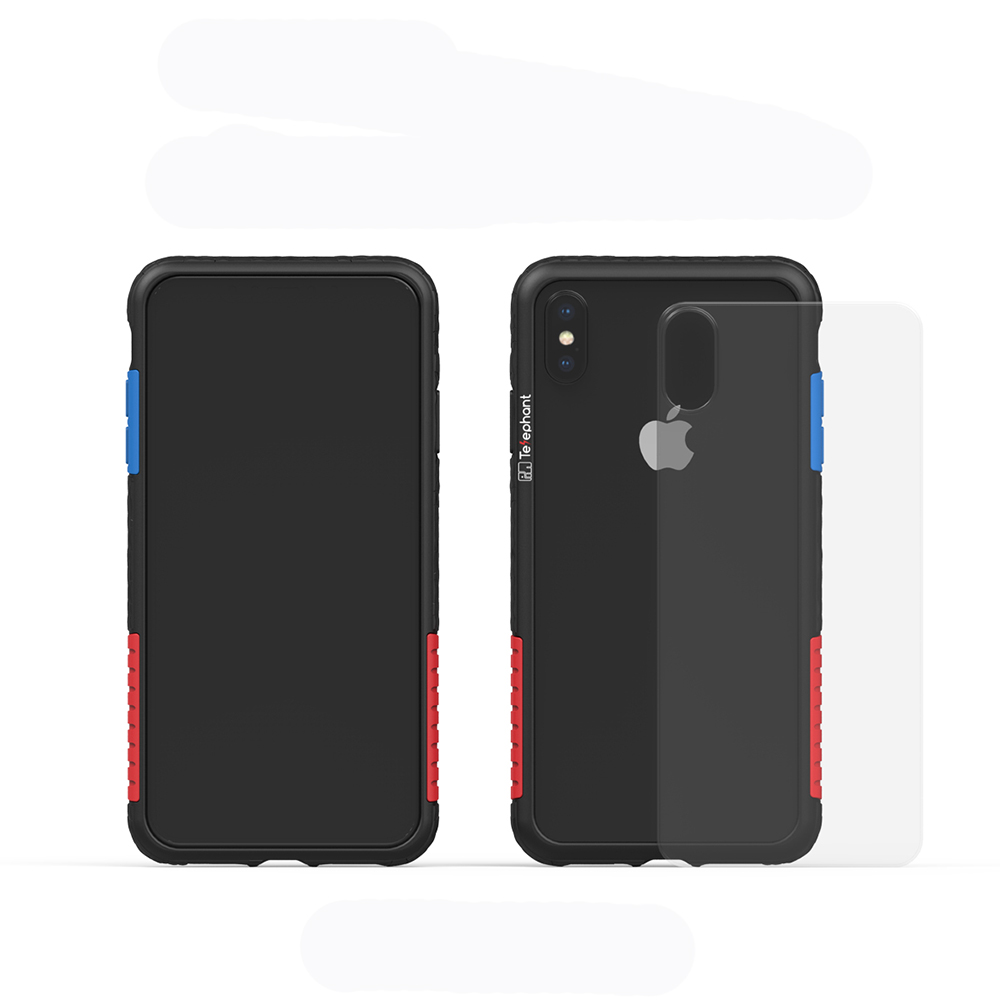 Telephant太樂芬 NMD iPhone XS MAX 黑-配OG(附背蓋)