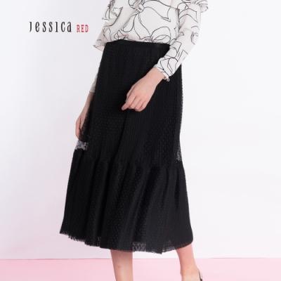 JESSICA RED - 浪漫百搭圓點雙層網紗長裙