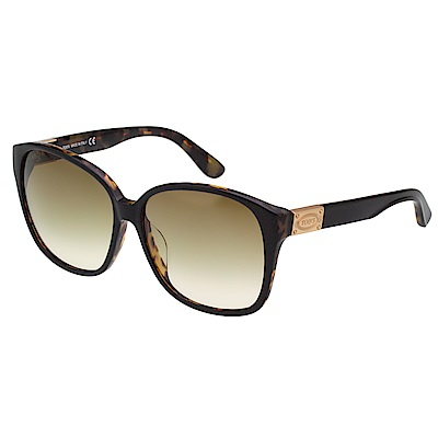 TOD'S 修飾完美臉型大方框 太陽眼鏡(琥珀色)TO9089