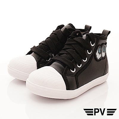 PV日系私藏 大眼亮片時尚貝殼鞋款  P-829黑(中小童段)
