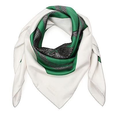 HERMES Brides De Gala Brode  真絲披肩方型絲巾(祖母綠)