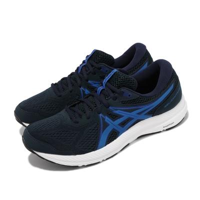 Asics 慢跑鞋 Gel Contend 7 運動 男鞋 亞瑟士 路跑 耐磨 緩衝 緩震 亞瑟膠 藍 白 1011B040404