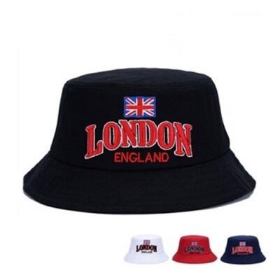 米蘭精品 遮陽防曬漁夫帽-LONDON刺繡情人節生日禮物男女帽子4色73db21