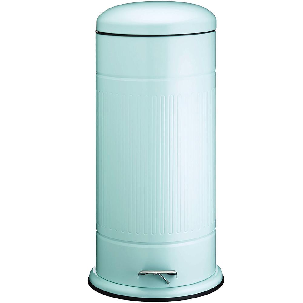 《KitchenCraft》復古腳踏垃圾桶(藍30L)