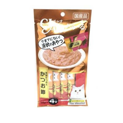 日本 CIAO 啾嚕燒肉泥 4SC-75 宗田鰹魚&柴魚片風味 14g*4入