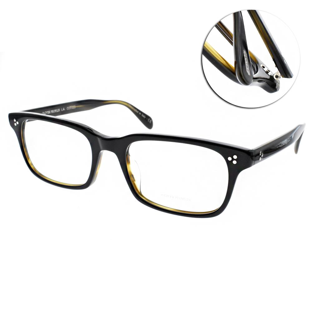 OLIVER PEOPLES 眼鏡 懷舊經典/黑-墨綠 #CAVALON 1441