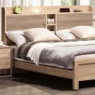 文創集 比菲德現代6尺雙人加大床台床頭片(不含床底&床墊)-187.9x12.1x101.7cm免組