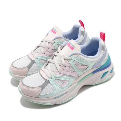 Skechers 休閒鞋 Energy Racer 增高 老爹鞋 女鞋 異材質拼接 止滑 耐用 穿搭 反光 粉 綠 149371LPMT